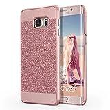 Galaxy S6 Edge Plus Case, Imikoko Luxury Hybrid Beauty Crystal Rhinestone Sparkle Glitter PC Hard Protective Diamond Case For Samsung Galaxy S6 Edge Plus Rose Gold