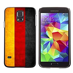 Cute Painting Slim pc Cover - Samsung Galaxy S5 ( Germany Grunge Flag )