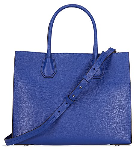 Michael Kors Mercer Large Bonded Leather Tote - Electric Blue by Michael Kors (Image #2)