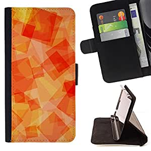Orange Yellow Orange Sun Warm - Painting Art Smile Face Style Design PU Leather Flip Stand Case Cover FOR Sony Xperia M2 @ The Smurfs