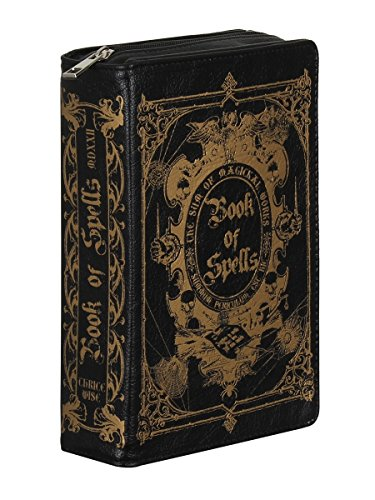 Bag Of Detachable Strap 5x6cm Black 23x14 Spells Clutch Book Shoulder With OxtqRRX