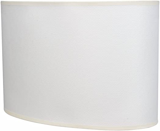 Aspen Creative 37021 Oval Hardback Shaped Spider Shade in Off-White, 15 1 2 Wide