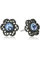 1928 Jewelry Flower Stud Earrings