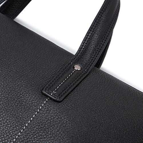 notebook portatil Band piel bolsillo asas trabajo y Gear Negro bandolera Bolso dos PC de para hombre 7Fw1qP