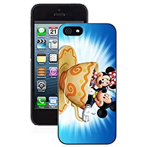 SUUER mickey mini mouse background Designer Personalized Custom Plastic Hard CASE for iPhone 5 5s Durable Case Cover