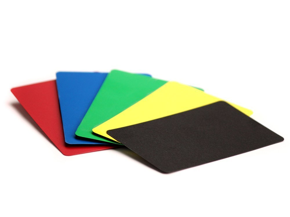 Professional Quality Casino Cut Card, Bridge Size Cut Cards-Pack of 5, Assorted Color Brybelly