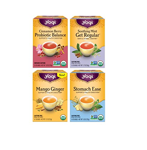 Yogi Tea - Digestive Health Variety Pack - Digestion Support Tea - Pack of 4 (Mint Tummy Tea)