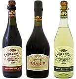カビッキオーリ ランブルスコ 甘口 スパークリングワイン (赤・白) 720mlx3本セット