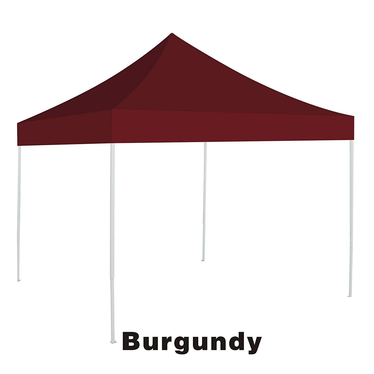 Ez pop Up instant Canopy 10'X10' Replacement Top gazebo EZ canopy Cover patio pavilion sunshade plyester-BURGUNDY