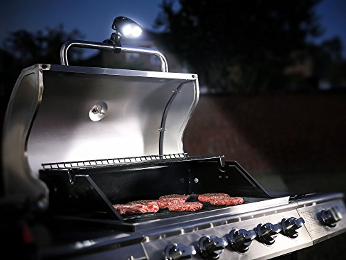 #1 Barbecue Grill Light With 10 Super Bright LED Lights   Handle Mount BBQ  Light For Grilling At Night   Fully Adjustable, Very Easy To Install, ...