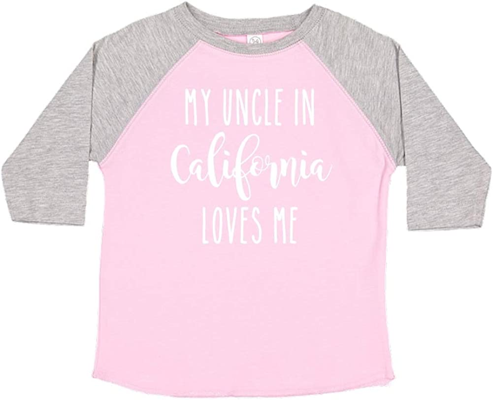 Toddler//Kids Raglan T-Shirt My Uncle in California Loves Me