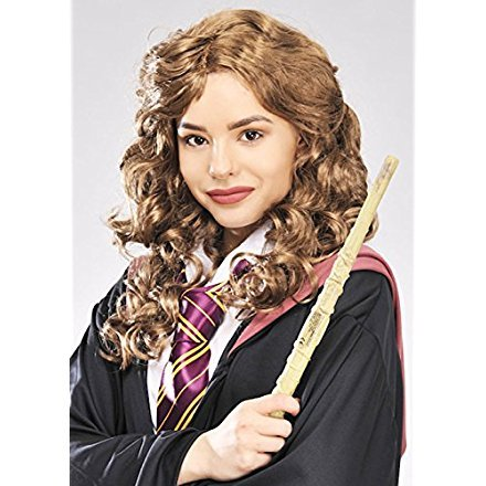 Womens Hermione Granger Style Brown Curly Wig (Hermione Granger Halloween Outfits)