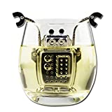 Zeroyoyo Stainless Steel Robot Tea Infuser WIth Drip Tray 1PCS