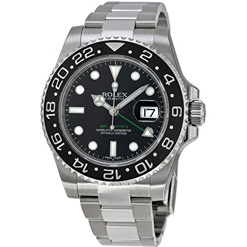 Rolex GMT-Master II Stainless Steel Watch Black Dial 116710LN