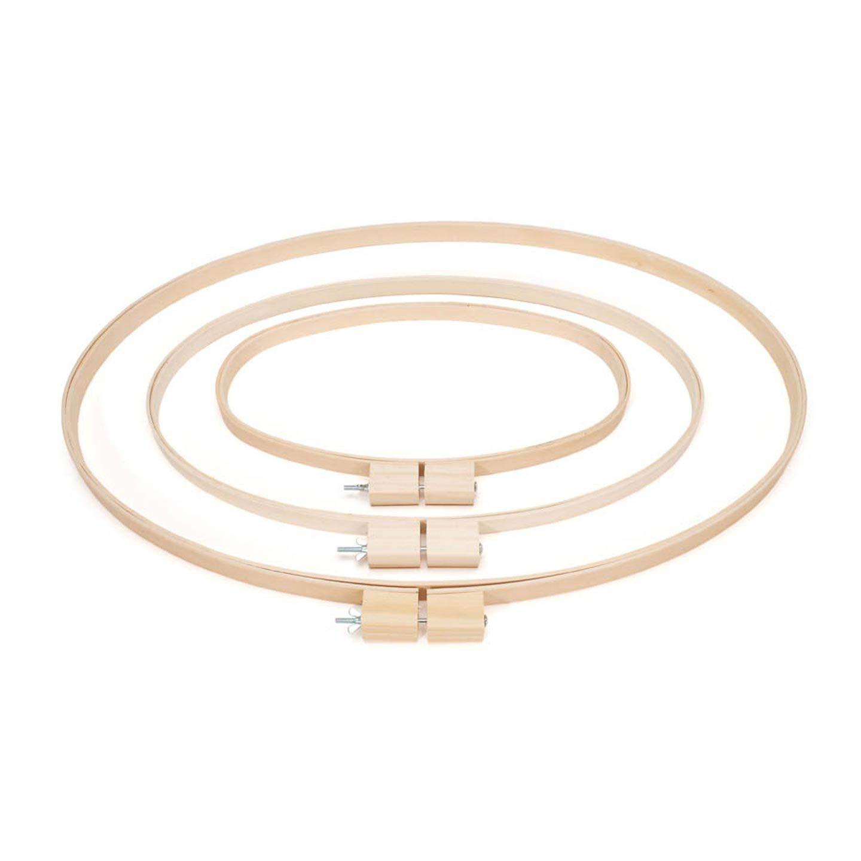 Darice Bulk Buy DIY Wood Quilting Hoops Oval 12 x 20 inches (3-Pack) 3983 by Darice