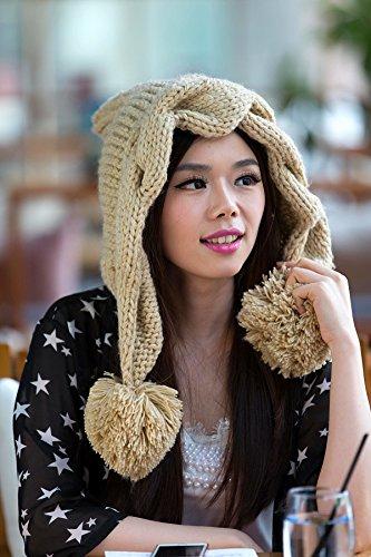 Corea Mano otoño para señora BEIGE Maozi torcedura Punto Sombreros Sombrero Versión de Beige Invierno Estrellas Coreana wnSIxqv1