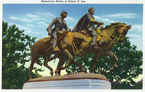 Dallas, Texas - View of the Equestrian Statue of Robert E. Lee (12x18 SIGNED Print Master Art Print w/ Certificate of Authenticity - Wall Decor Travel - Park Dallas North Hours