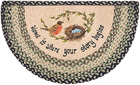 Earth Rugs 32-121 Robins Nest Slice Rug, 18-Inch by 29-Inch, Grass Green Ebony Ivory