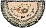 Cheap Earth Rugs 32-121 Robins Nest Slice Rug, 18-Inch by 29-Inch, Grass Green/Ebony/Ivory