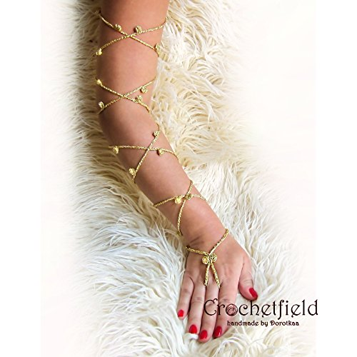 bellydance jewelry, barefoot sandals beach pool party leglet knee high gladiator boots wedding shoes night out party METALLIZED Anklet lace up Foot jewelry yoga long leg chain