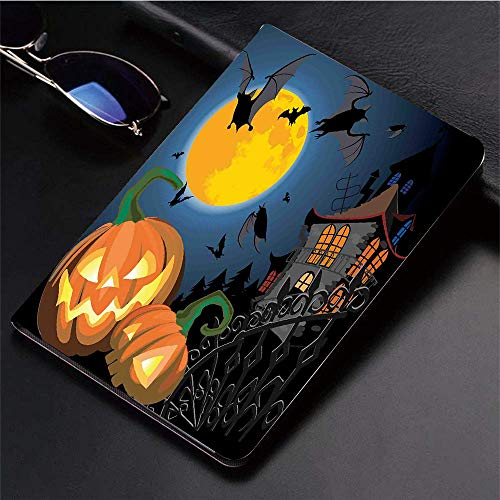 Compatible with 3D Printed iPad 9.7 Case,Gothic Halloween Haunted Party Theme Design Trick or Treat Mot,Lightweight Anti-Scratch Shell Auto Sleep/Wake, Back Protector Cover iPad 9.7