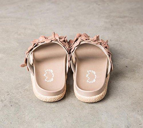 des de Sandales Sport en l'été Simple Orteil Version de Cuir d'été 2018 de coréenne Nouvelles Chaussures Chaussures Ouvert Femmes EqO0Oa