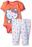 Hello Kitty Baby Girls' Bodysuit Ruffle Pant Set