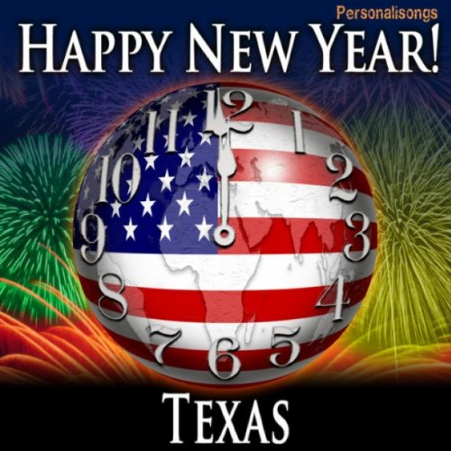 happy new year texas with countdown and auld lang syne