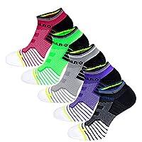 Aaronano 5 Pairs Womens Low Cut Cushioned Socks No Show Athletic Socks Running Socks