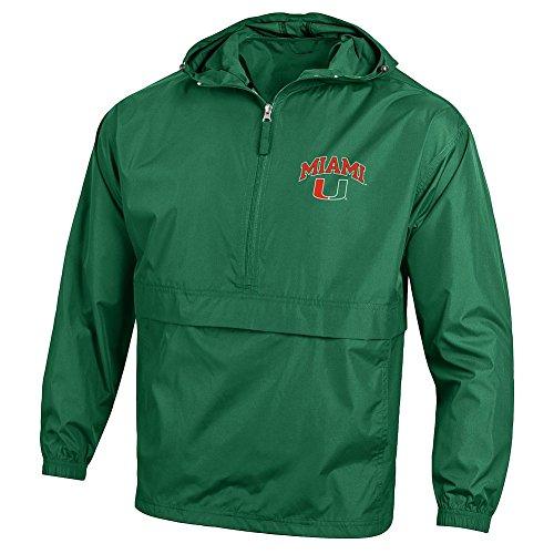 Miami Hurricanes Jacket - Elite Fan Shop Miami Hurricanes Packable Jacket Green - L