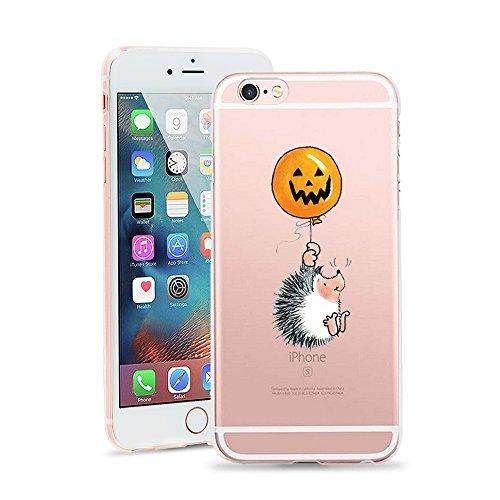 - iPhone 6 Case, JICUIKE Thriller Halloween Pumpkin Lights Design Slim Clear Silicone Transparent Soft Shell Bumper Back Cover For iPhone 6s Case 4.7 Inch [Little Hedgehog]
