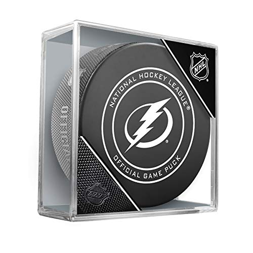 - NHL Tampa Bay Lightning Official Game Hockey Puck with Holder