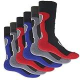 6 Paar Herren Thermo Socken Vollfrottee-39-42