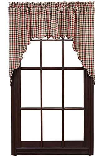 Victory Valance Pattern (Victory Swag Scalloped Lined Set of 2)