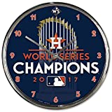Houston Astros WinCraft 2017 World Series Champions Official742025186207 Chrome Clock
