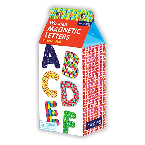 Mudpuppy Pattern Pop Wooden Magnetic Letters