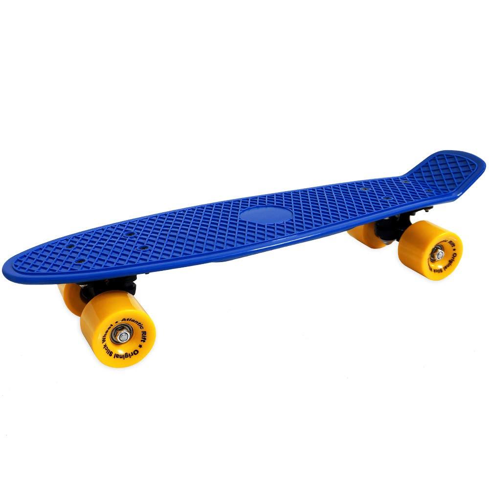 Atlantic Rift Retro Skateboard Pennyboard Retroboard | Oldschool Design | sicherer Halt | Robuste Rollen | PU-Dämpfer -【Farb- und Modellauswahl】 Deuba