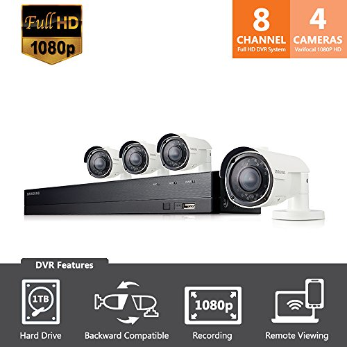 SDH-B74043BV - Samsung Wisenet 8 Channel 1080p HD 1TB Security System with 4 Varifocal - Eye Americas Locations Best