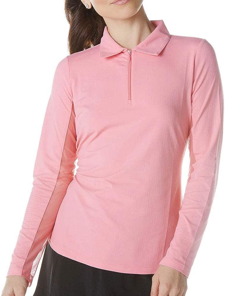 IBKUL Women's Sun Protective UPF 50+ Cooling Long Sleeve Polo Shirt - 81000