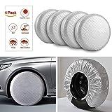 "Kohree Tire Covers Tire Protectors RV Wheel Motorhome Wheel Covers Sun Protector Waterproof Aluminum Film, Cotton Lining Fits 27"" to 29"" Tire Diameters Set of 4"