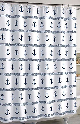 CHF Anchor Stripe Shower Curtain One Size Blue