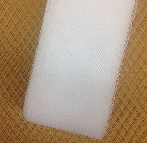 Stiff Polyester White Horsehair Braid, Selling Per Roll (4''inch Wide) by Top Trimming