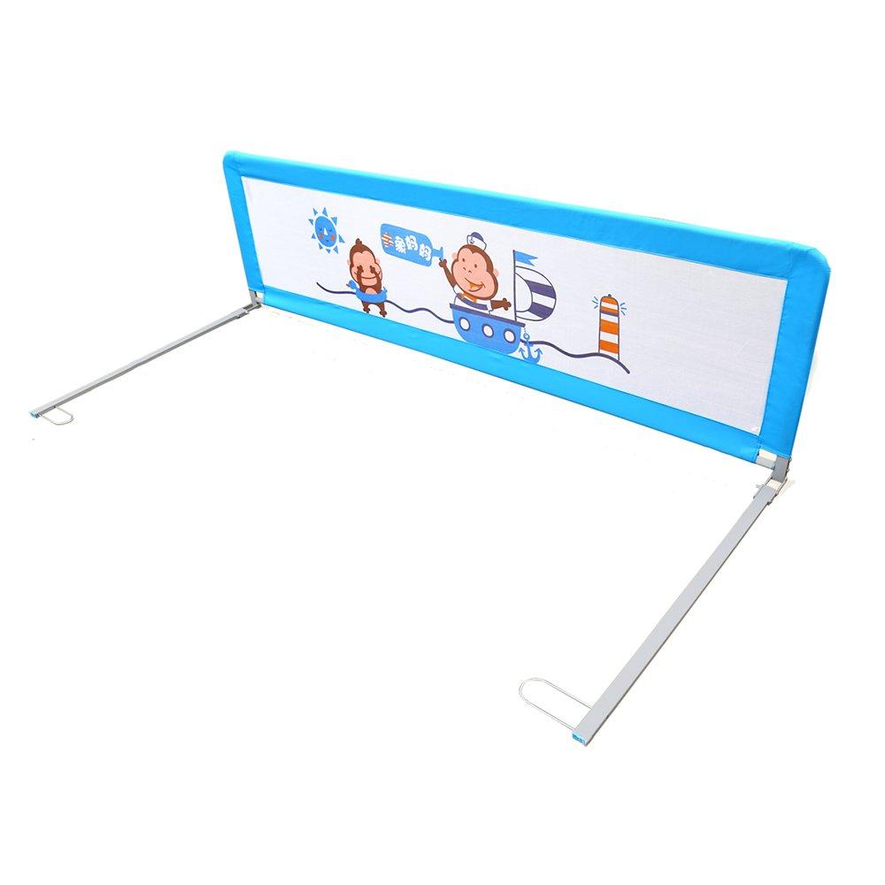 XIAOMEI 固定ベッドのガードレール強化する赤ちゃんの飛散防止ベッドのフェンス子供の保護バー ベッドの手すり 1.5m 青 B07GDC381X