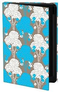 Keka Classic Nandita Singh - Funda rígida para Samsung Galaxy S4, color azul, blanco y marrón