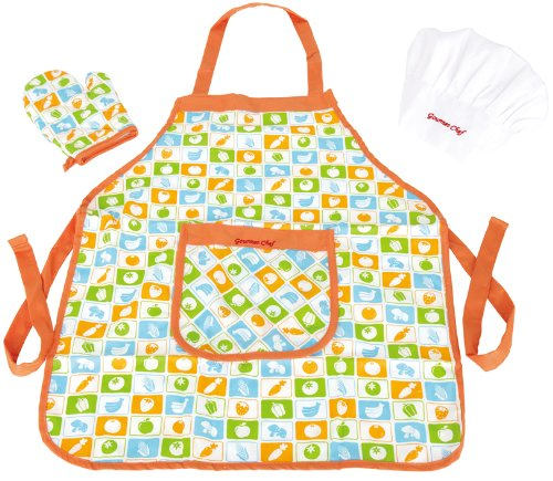 Hape Kid's Chef Apron Set]()
