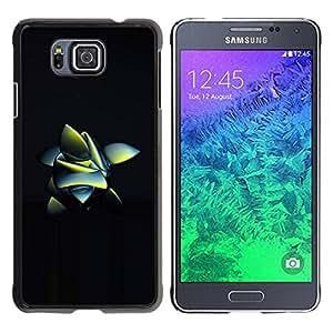 TopCaseStore / la caja del caucho duro de la cubierta de protección de la piel - Nature Inspired Black 3D - Samsung GALAXY ALPHA G850