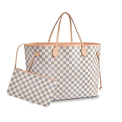 DMYTROVITCHUK V Style Bags Women Handbag Tote GM Shoulder Bag Organizer Beige Color Made Of Canvas Size 15.7 x 7.9 x ()