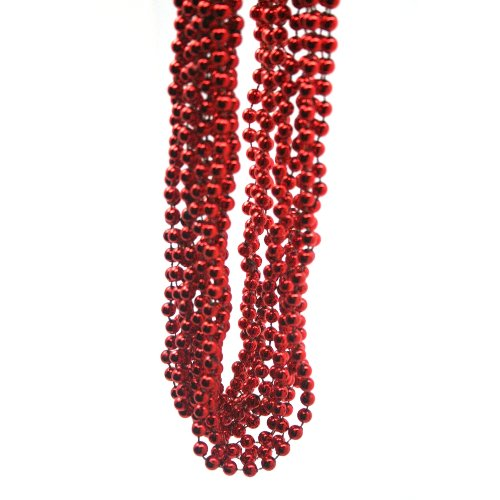 Metallic Red Beads : package of 12]()