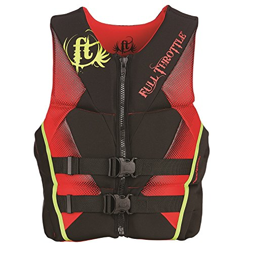 (Full Throttle Men's Hinged Rapid-Dry Flex-Back Life Vest, XX-Large, Red)
