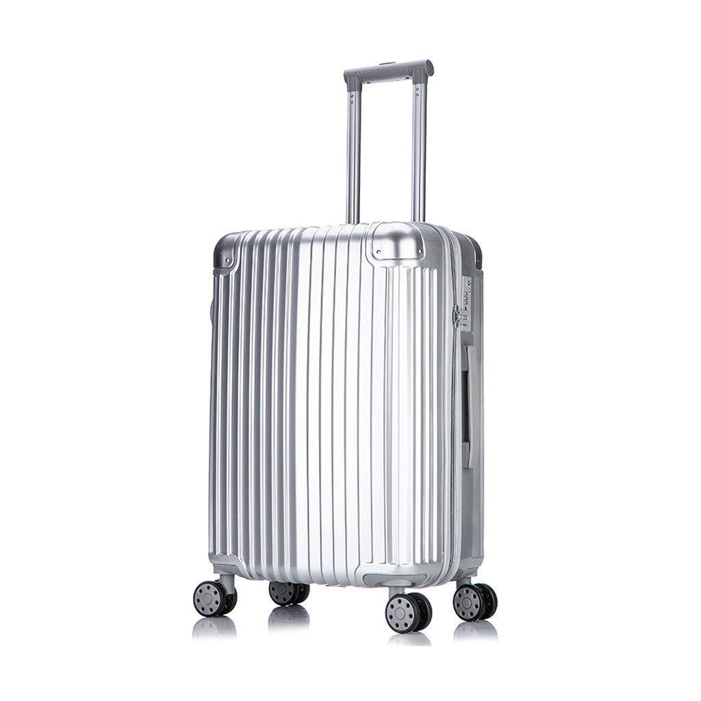 ABSハードシェル軽量キャリー荷物スーツケース内蔵TSA公認3桁コンビネーションロック、4輪、21 * 33 * 55 cm B07MP9LY6T silver